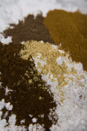 spices on flour