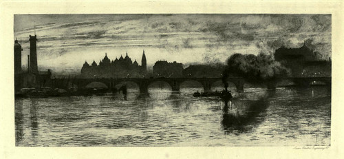 008-El puente de Waterloo-London impressions 1898- William Hyde