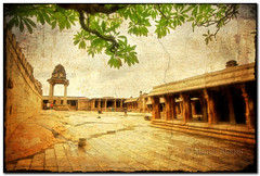 Veerabhadra temple (Light and Life -Murali ) Tags: texture temple border frame lepakshi veerabhadra veerabhadratemple img3053p2scf