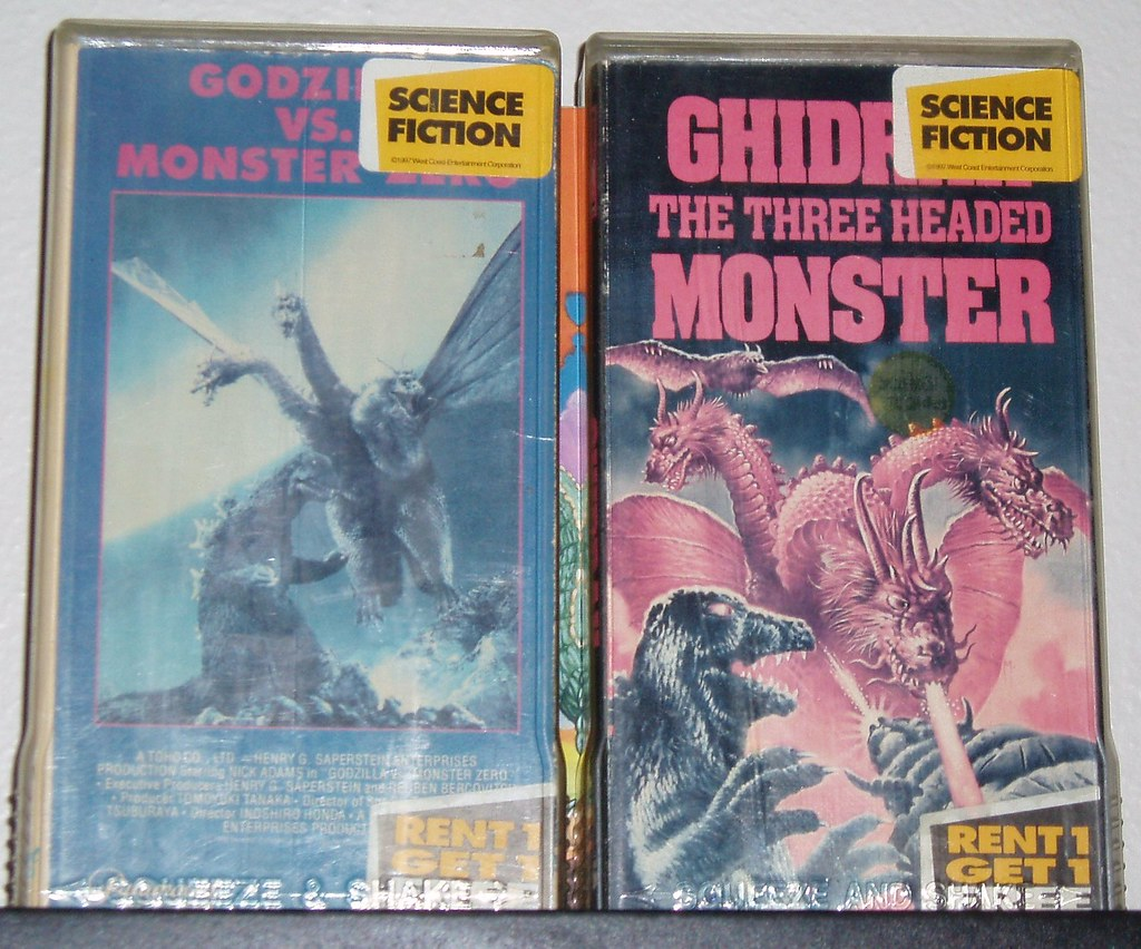 Destroy godzilla monster movie vhs