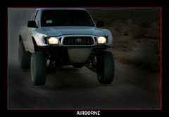 Night Flier (CameraOne) Tags: motion blur speed desert offroad suspension action nevada racing dirt toyota canon5d tacoma snore score whoops racetruck prerunner canon7020028is modifiedvehicle