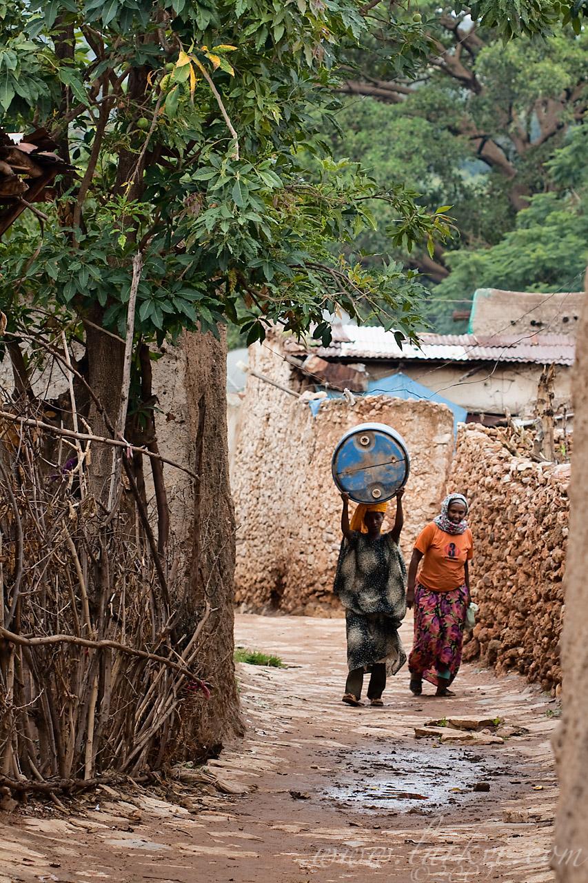 Woman in Street #2, Harar, Ethiopia, 2009