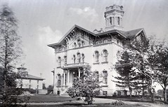 Isaac N. Swain residence on Fort Street in 1881 (southofbloor) Tags: street house tower architecture fort gothic detroit cupola villa belvedere mansion lantern destroyed turret demolished italianate swain