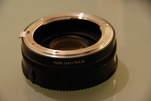 Converter for Sony alpha DSLR to use Nikon lens