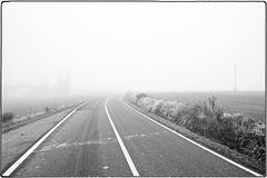 ... SDIM5482 (*melkor*) Tags: road autumn art fall misty fog landscape geotagged countryside hill nowhere foggy experiment minimal hills dew conceptual melkor trashbit lastnovembersdewproject aroadtoamistynowhere