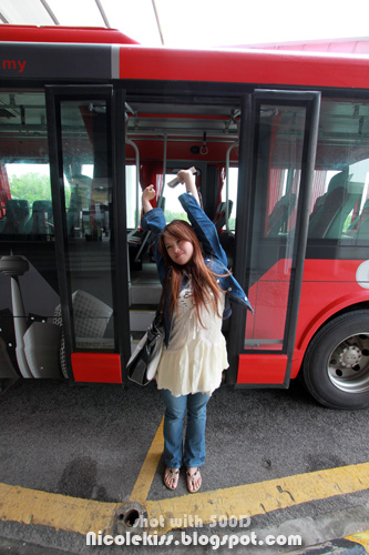 getting off the bus