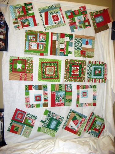 WIP - Traveling Threads Christmas Quilt