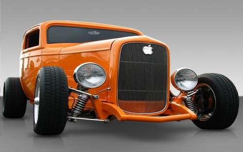 Wallpaper coche apple