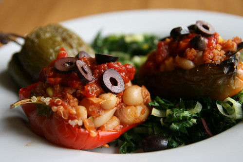 Stuffed Peppers with Quinoa and Cannelini Beans