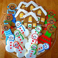 Cookies for Hair Stylist (Andovercookiemama) Tags: christmascookies decoratedcookies gingerbreadcookies snowmancookies housecookies