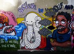 W/ Swampdonkey & deeker (Darkclouds Archive) Tags: street new york nyc art brooklyn graffiti paint drips darkclouds darkcloud enamel swampy swampdonkey