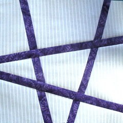Tic-Tac-Toe Block made with 1 inch strip