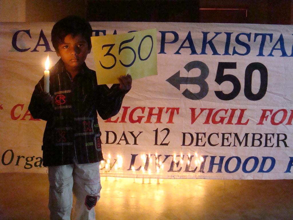 Candle light vigil for survival event - Pakistan