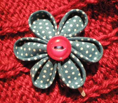 First Kanzashi Flower Hair Clip