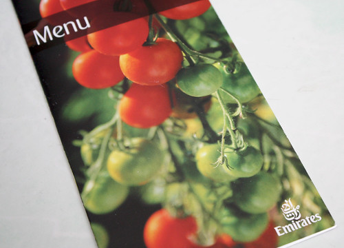 Emirates Airline Menu