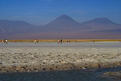 Caminando en el Salar de Atacama (CURZU@) Tags: chile salar sanpedro sanpedrodeatacama salardeatacama nortegrande licancabur volcanlicancabur reservanacionallosflamencos flickriver lagunatebinquinche