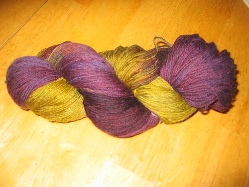 Hand dyed commercial yarn