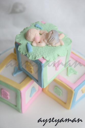 Baby Block Cake