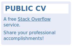 Public CV blue box