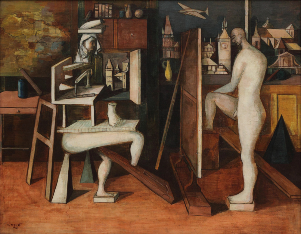 Andrej Nemeš, A Painter in his Studio, 1938