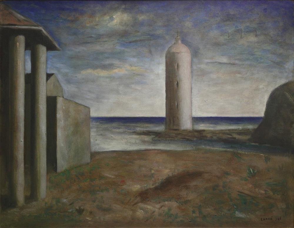 Carlo Carrà, Pillars, 1928
