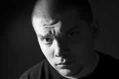 Day 25 of 365 (dougrm1513) Tags: portrait blackandwhite selfportrait nikon 365 iso1600 highiso d90 project365 desklamplight nikon35mm18