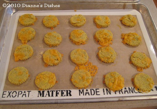 Cheddar and Dill Cornmeal Cookies: Baked