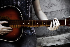 trusty rusty ( Hannah.at.the.disco) Tags: playing hair hands guitar rusty rings flip meow trusty