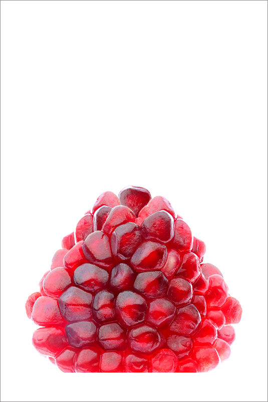 Red pomegranate seeds (Pomegranate Jewel) / red /  white / - IMG_8752