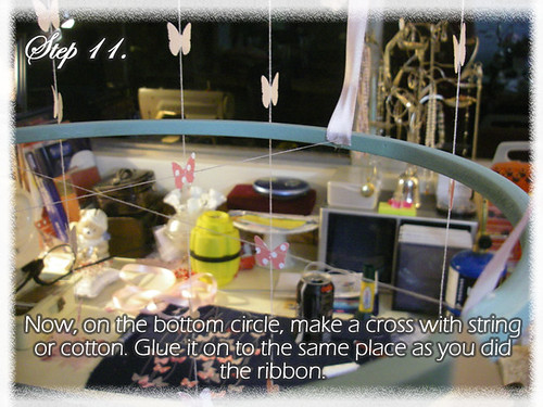 Step 11 (Tutorial- How to make a Chandelier Style Butterfly Mobile)