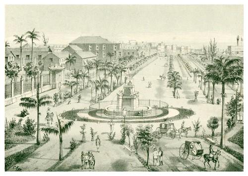 010- Cuba-Vista general del Paseo de Isabel II-Álbum pintoresco de la Isla de Cuba- 1853