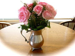 Roses in Silver Pitcher (boisebluebird) Tags: roses beauty rose heather boise valentines timeless boisemovieman michaeltoolson boisebluebirdcom httpwwwboisebluebirdcom boiselandscaping boisegardener