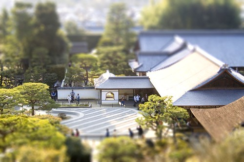 tilt shift Ryoan-Ji Japan