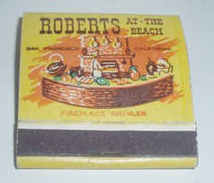 MATCHBOOK ROBERTS AT THE BEACH SAN FRANCISCO CALIF