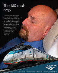 Amtrak Ad featuring Thom (vtrrbear) Tags: advertising amtrak thom campaign acelaexpress tdcollins