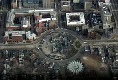 Spadina Crescent - Toronto Aerial (Kevo89) Tags: winter toronto ontario canada building buildings downtown ttc universityoftoronto flight aerial transit a300