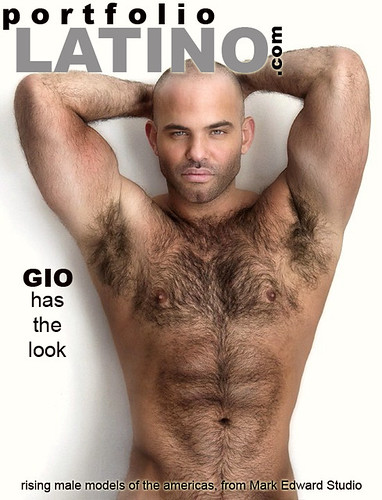 sexy latin hairy hunk on magazine cover