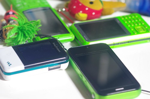 green mobile phones