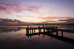 Squids Ink Sunset (archie0) Tags: sunset swansea reflections jetty lakemacquarie squidsink