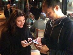 Alice and Dave Playing Foursquare (alist) Tags: foursquare alicerobison daviddaer