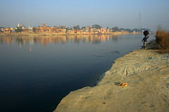 Ganga | Bithoor (arnabchat) Tags: morning people india man water up sunrise river explore ganga carrying kanpur ganges uttarpradesh ghaat bithoor bithur