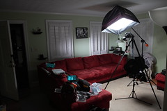 I Love This Couch Setup (budrowilson) Tags: canon grid livingroom couch 7d westcott apollo vivitar softbox quantaray 28in 15in 285hv alzo saxpnpc