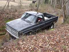 001 (stevenbr549) Tags: road chevrolet water creek truck woods ditch 4x4 off chevy redneck 1985 k10