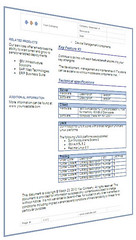 Electronic Datasheet Template - MS Word