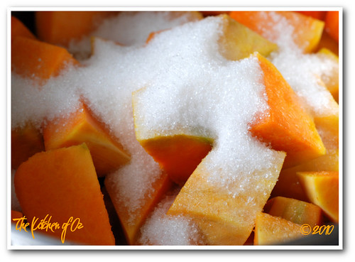 Pumpkin Dessert - cooking with sugar