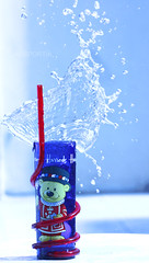 Tshhhhhh !! (  ) Tags: blue red water drops harrods splash alsportia