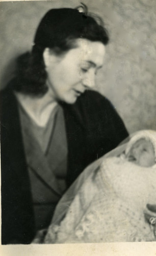 Mrs Mulligan and Son at Christening 1940s