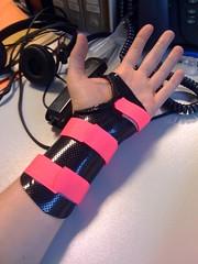 Pink stripy paw