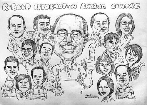 Group caricatures for ReCaap Information Sharing Centre