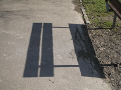 Bench Shadow (Terry Freedman) Tags: creativewriting terrypix terryfreedman benchshadow wkh